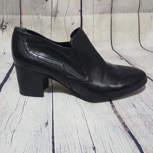 Franco Sarto Black Leather Ashland Boot Booties 8